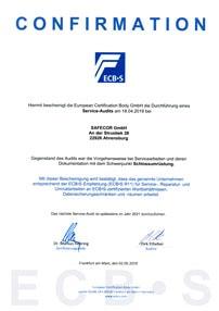 ECBS Zertifizierung Auditierung Sicherheit