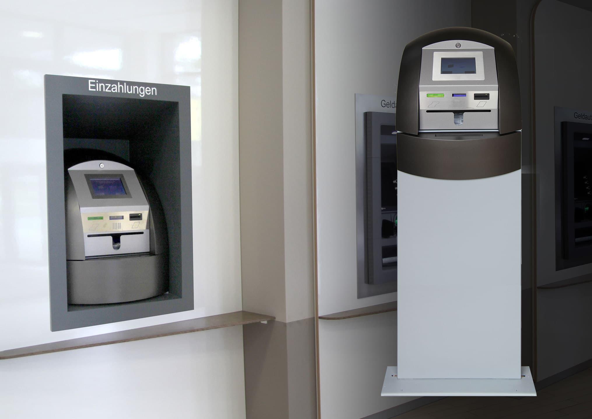 Einzahltresor Einzahlautomat Deposit Bargeld Einzahlung